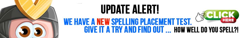 New Spelling Placement Test Game